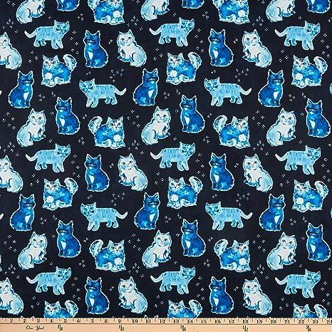 Dear Stella Designs Dear Stella Digital Blue Crush Indigo Cats Multi tela: Amazon.es: Juguetes y juegos