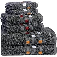 Trends Alley Panache – Luxury Bath Towels Set (6 Pieces, 7 Colours), 100% Combed Cotton, Includes 2 Face Towels, 2 Hand…