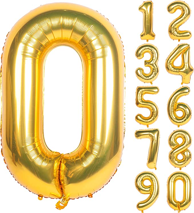 Age Foil Balloons Wholesale clearance GOLD Mega Job Lot of 40 Number