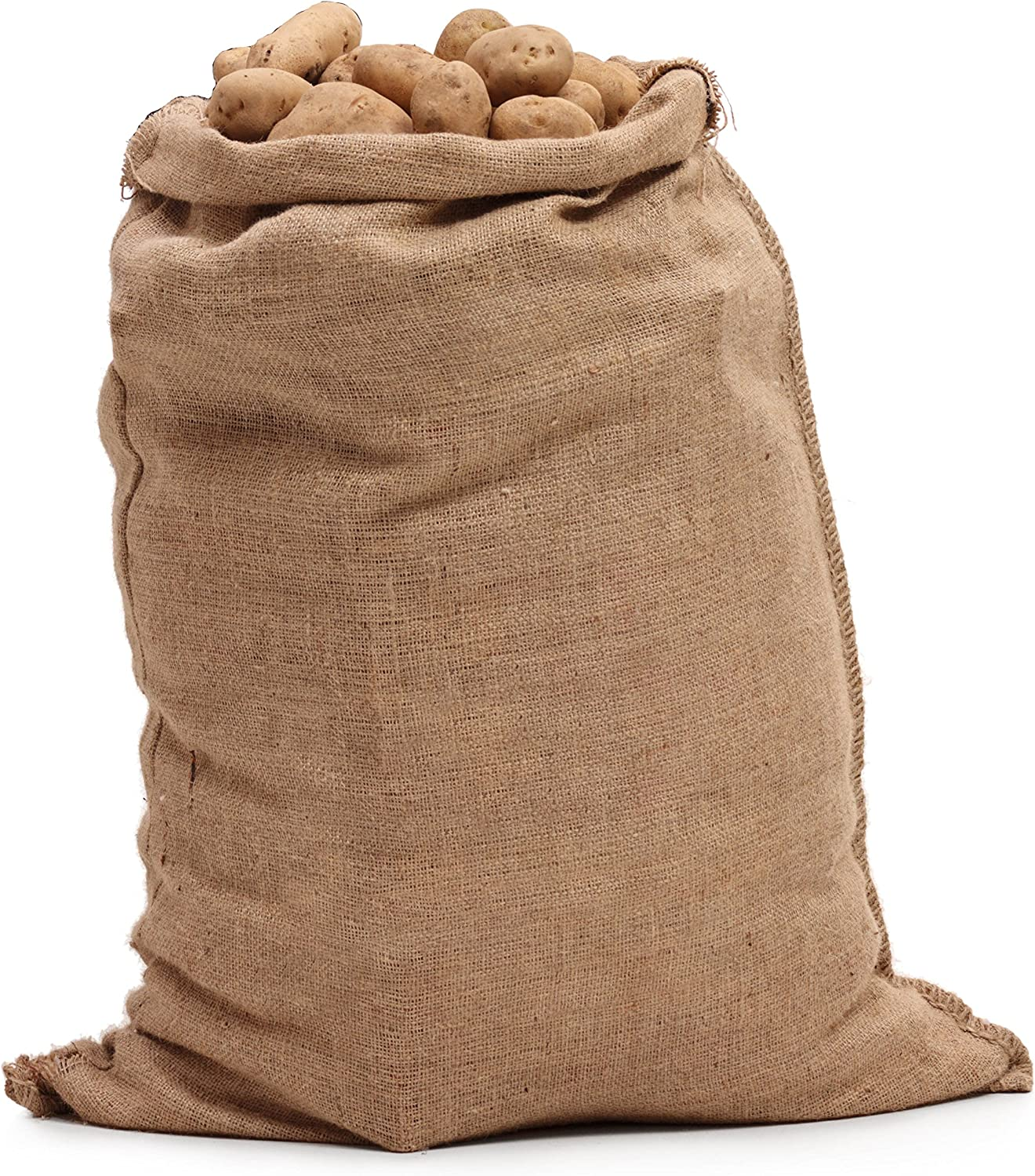 "Large Burlap Bags 18"" x 30"" - Burlap Bags for Planting/Gardening by Sandbaggy (Pack of 10)"