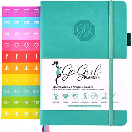 GoGirl Planner and Organizer for Women - Pocket Size Weekly Planner, Goals Journal & Agenda to Improve Time Management, Productivity & Live Happier. ...