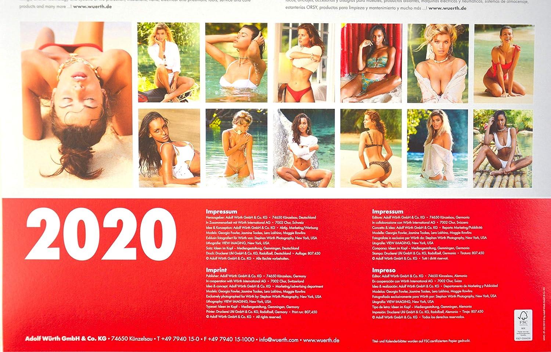 Calendrier Wurth 2021 Würth Erotic Calendar 2020©, Limited Edition Model Wall Calendar