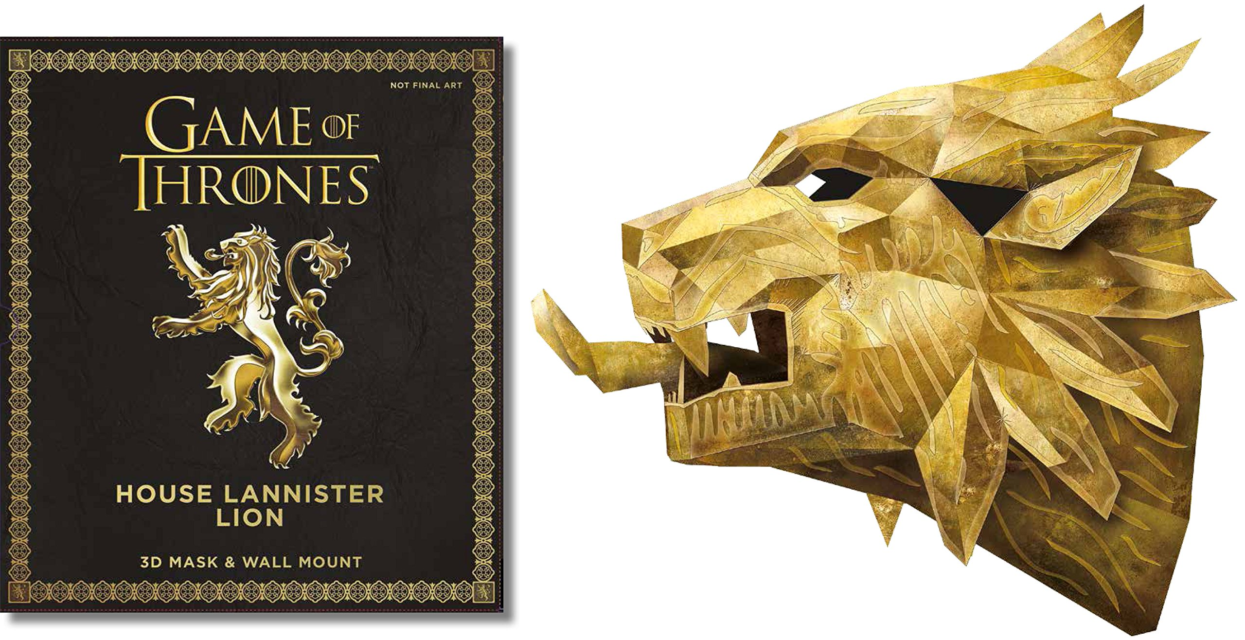 Game of Thrones Mask: House Lannister Lion: Wintercroft