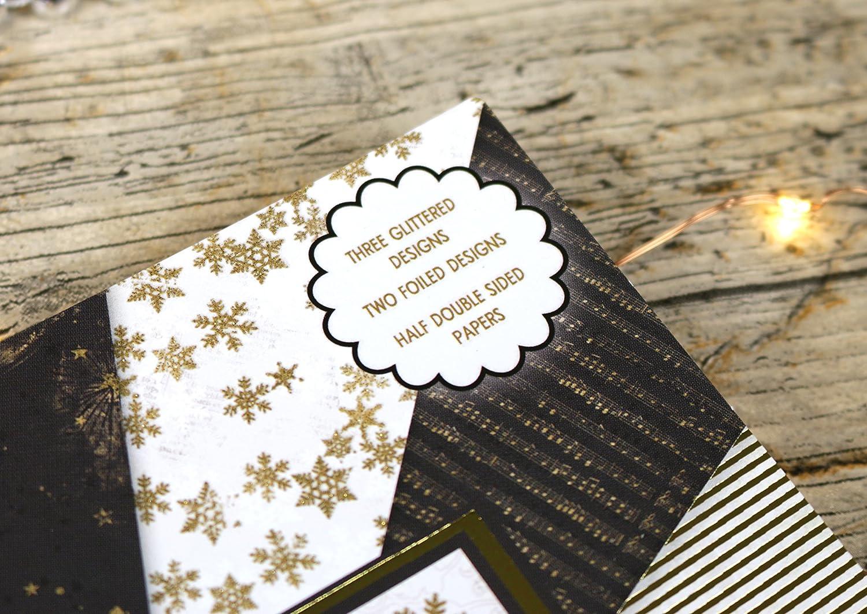Multi-colour First Edition Christmas FSC Prima edizione Natale All That Glisterns Premium Paper Pad 6x6 48 Sheets