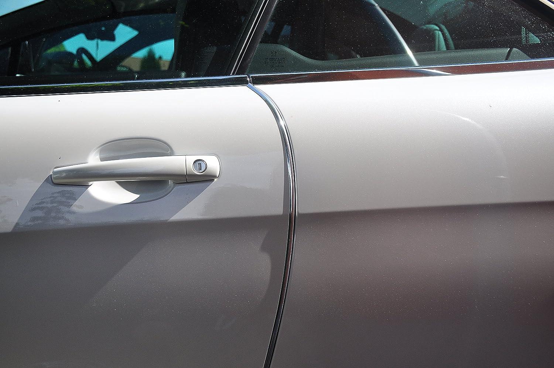 4 Meter T/ürkantenschutz Chrom T/ürrammschutz Gummi sch/ützen Sie effektiv Ihren kostenbaren Auto Lack