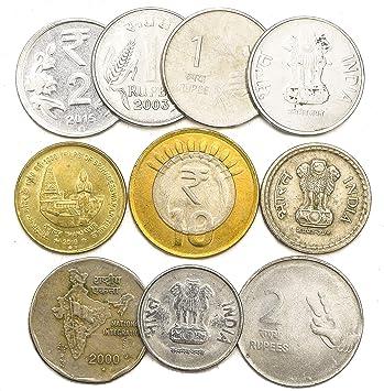10 Monedas Antiguas DE LA India. Lote DE Monedas COLECCIONABLES DE ...