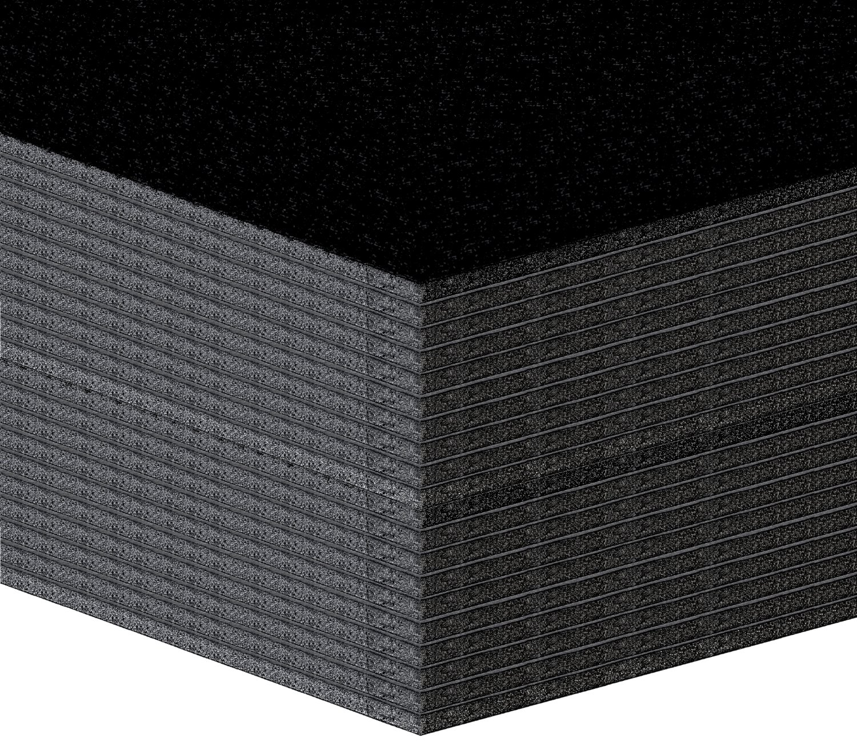 20pezzi di schiuma leggera Platten, leggero tessuto piastre–5mm–Nero–formato: A4(21x 29,7cm) Altera CE404B