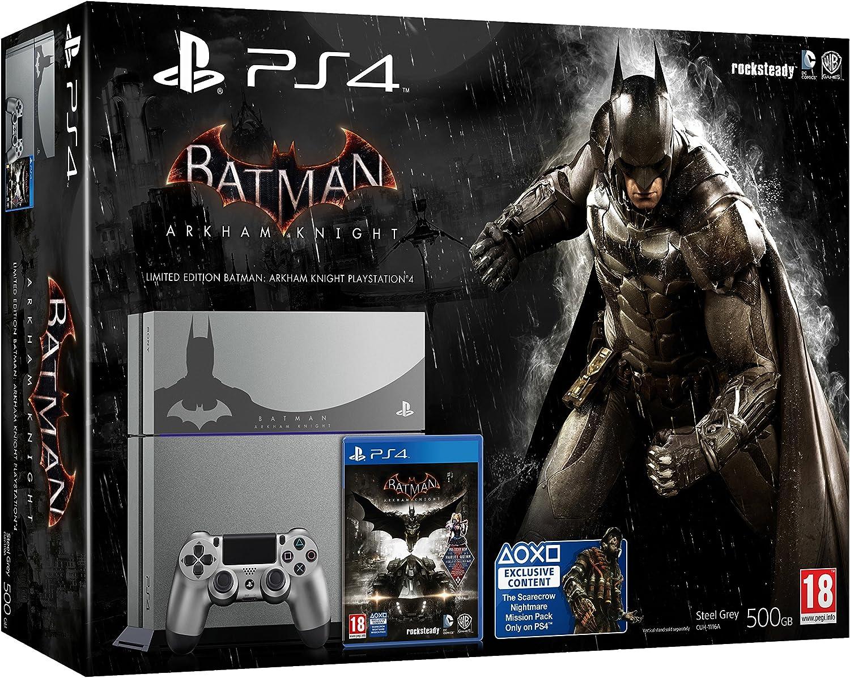 PS4 Steel Grey + Batman Arkham Knight [Bundle Limited ...