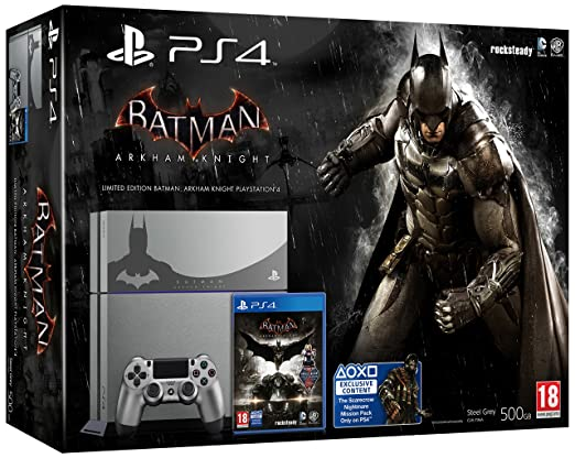 22 opinioni per PlayStation 4 Steel Grey + Batman Arkham Knight [Bundle Limited]