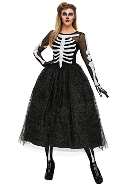 1950s Costumes- Poodle Skirts, Grease, Monroe, Pin Up, I Love Lucy FunCostumes Womens Skeleton Beauty Plus Size Costume $64.99 AT vintagedancer.com