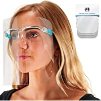 TCP Global Salon World Safety Face Shields with Glasses Frames (Pack of 4) - Ultra Clear Protective Full Face Shields to…