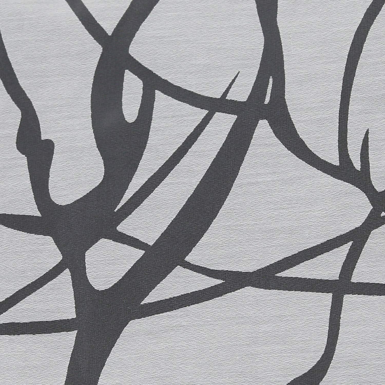 Heichkell Wohnzimmer Ausbrenner Gardine 1 St/ück Voile Durchscheindender Vorhang Modern Schlaufen Stores Ausbrenner in Baumzweige Muster Wei/ß BxH 140x145 cm