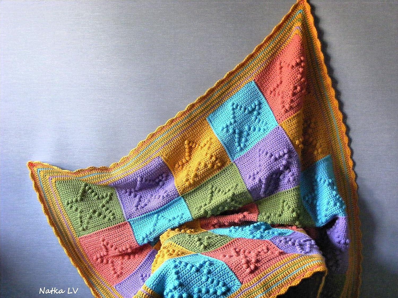 Amazoncom Crochet Baby Blanket Star Blanket Granny Square