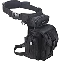 Jueachy Multifunctional Drop Leg Waist Bag, Tactical Military Thigh Hip Outdoor Pack for Motorcycling Hiking Traveling Fishing Tool Pouch with Detachable Water Bottle Pouch