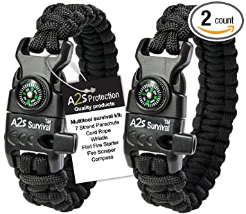 Amazon.com: A2S Paracord K2-peak Brazalete, kit de ...