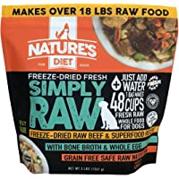Nature's Diet Simply Raw Freeze-Dried Raw Whole Food Meal - Makes 18 Lbs Fresh Raw Food with Muscle, Organ, Bone Broth…