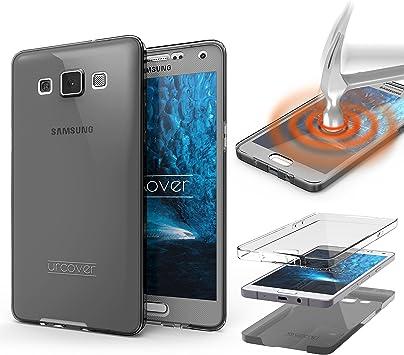 Urcover Funda Compatible con Samsung Galaxy A3 (2013) Carcasa Protectora 360 Grados Silicona Gel en Semi-Transparente Full Body Protección Completa Delantera/Trasera: Amazon.es: Electrónica