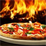 Pizza Stone for Best Crispy Crust Pizza, Only Stoneware with Thermarite
