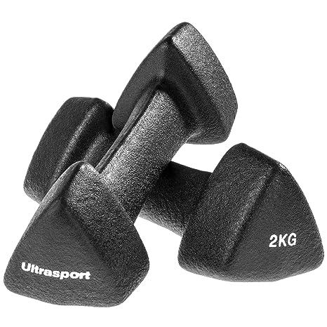 Ultrasport 331100000112 - Mancuernas Suaves de Gimnasia, Antideslizantes, 2 x 2 kg