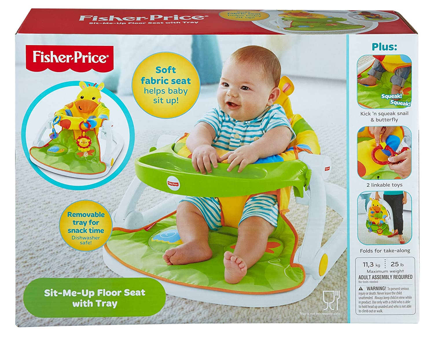 Amazon.com  Sit-me-up Floor Seat With Tray (giraffe) - Djd81 - Fisher-price - Mattel - Wrap--t24  Baby  sc 1 st  Amazon.com & Amazon.com : Sit-me-up Floor Seat With Tray (giraffe) - Djd81 ...