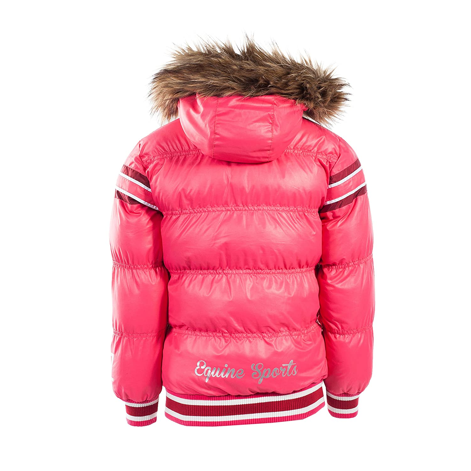 Hot Pink 12 Horze Kids /& Ponies Padded Jacket with Reomvable Hood Medium