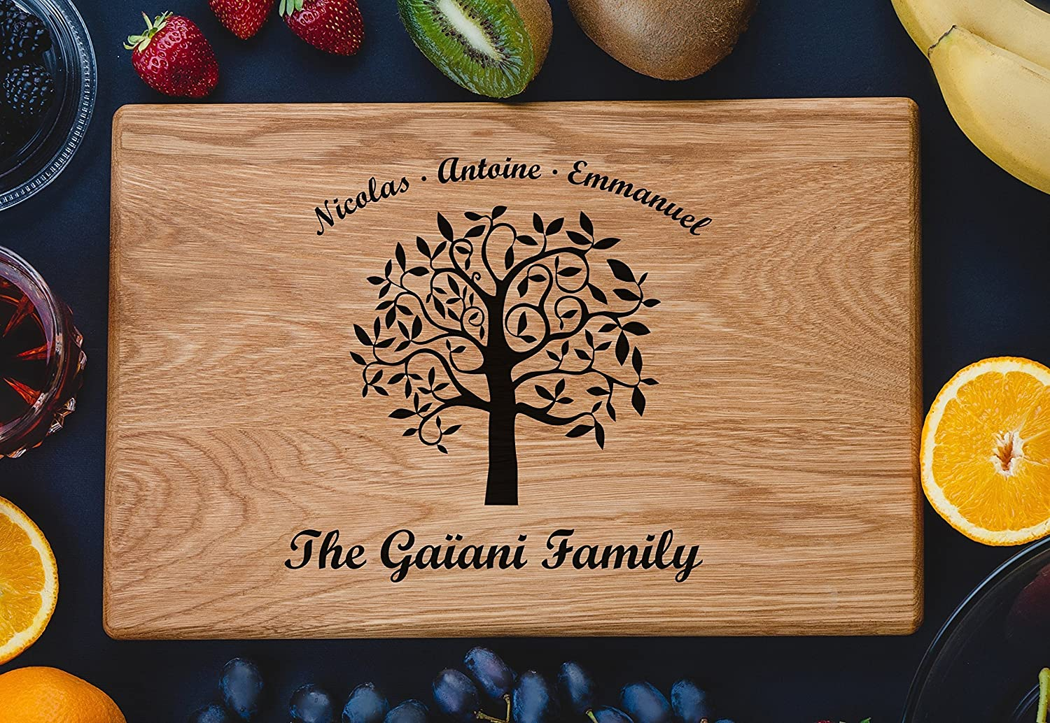 Family Tree Personalized Engraved Cutting Boardcustom Wedding Gift, Anniversary Gifts, Housewarming Gift, Birthday custom08