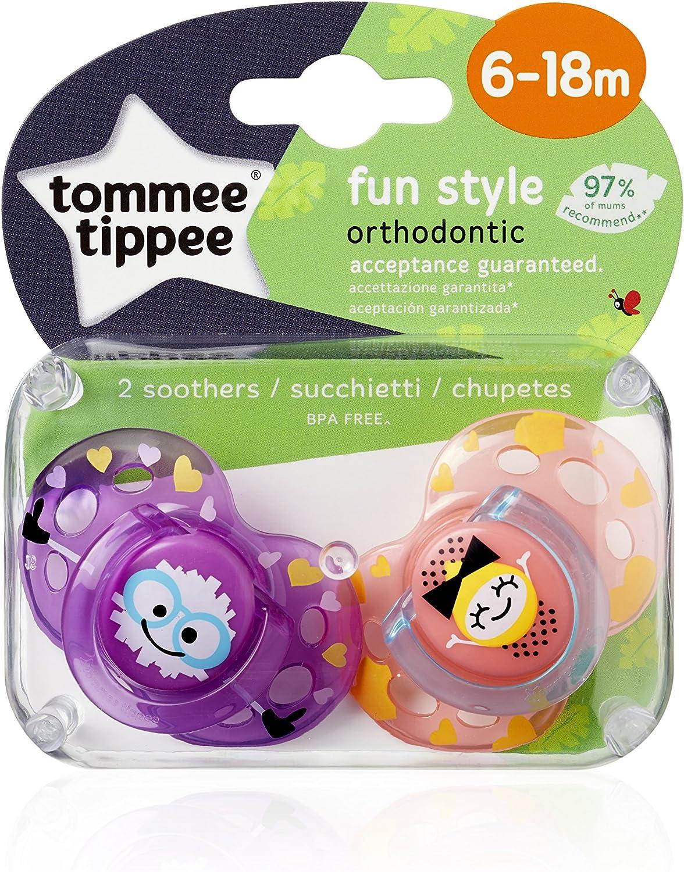 Tommee Tippee 44679241 Sucette Fun 0-6 Mois coloris al/éatoire