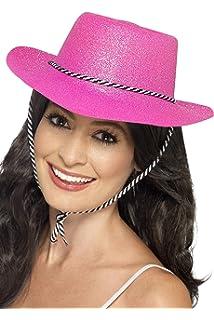 cfd30fe9922 Ladies pink Cow Girl Hat With Tiara Fancy Dress Hen Night pink ...