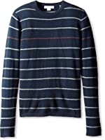 Christopher Fischer Men's Stripe Crew-Neck Cashmere Sweater