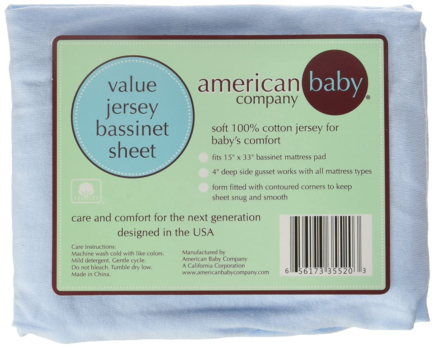 Amazon Com American Baby Company 100 Cotton Value Jersey Knit
