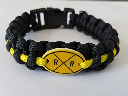Railroad vintage sign collectible Advance warning sign Paracord bracelet
