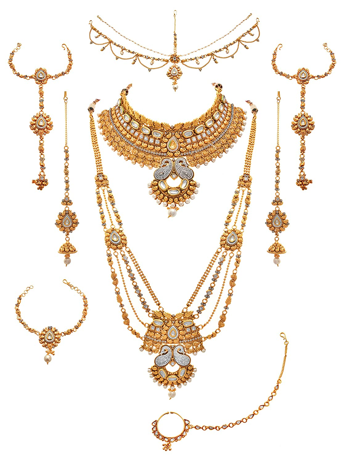chic JFL - Traditional Ethnic One Gram Gold Plated Kundan Designer ...