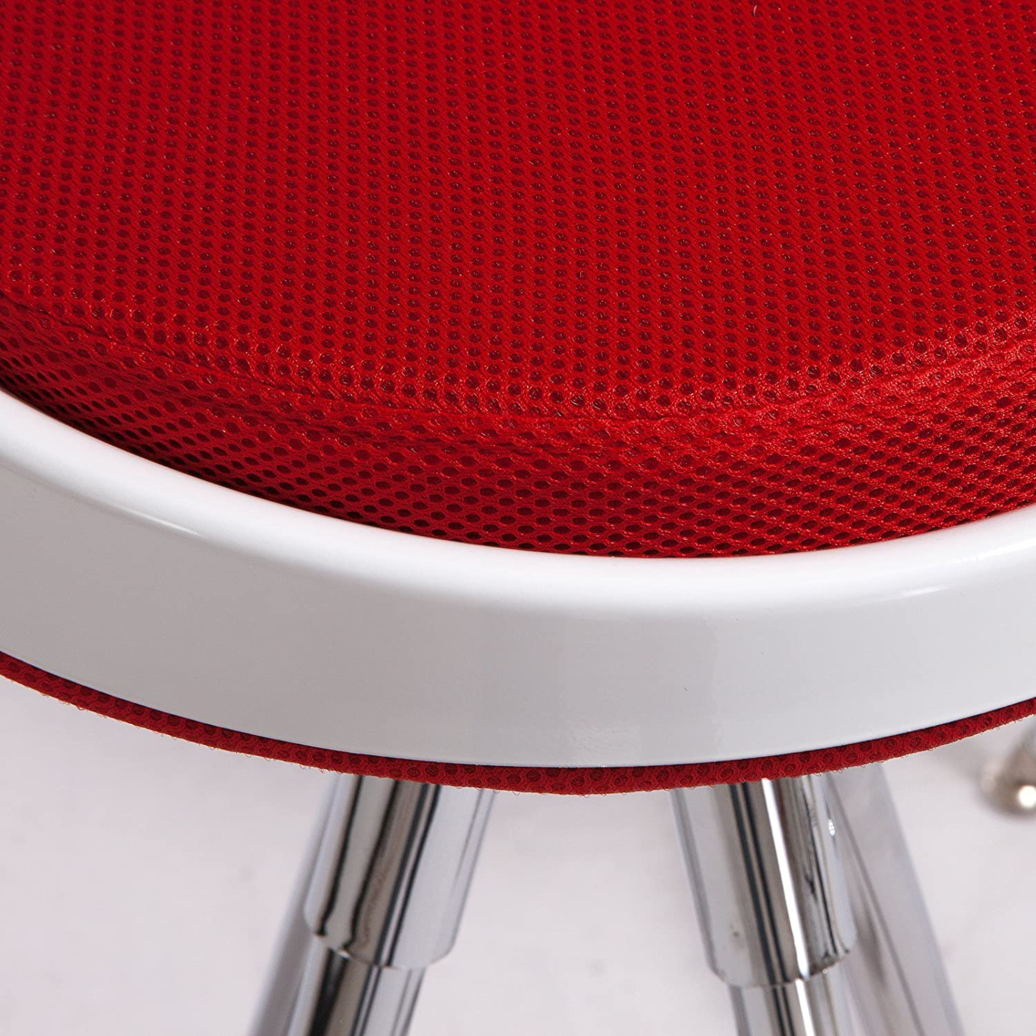 Red Set of 2 Best Selling Valerie Fabric Bar Stool