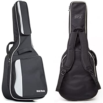 74420c5322 Amazon.com: Acoustic and Classical Guitars Gig Bag Full Size (41 inch) by  Hola! Music, Deluxe Series with 15mm Padding, Black: Musical Instruments