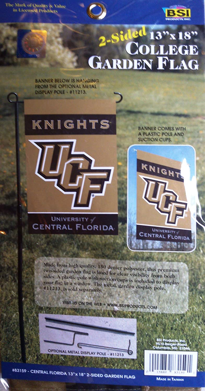 www.FanNut.com UCF Knights BSI 2-Sided Garden Window Flag Banner University of Central Florida