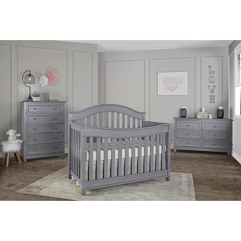 Evolur Hampton// Parkland 5 in 1 LifeStyle Convertible Crib