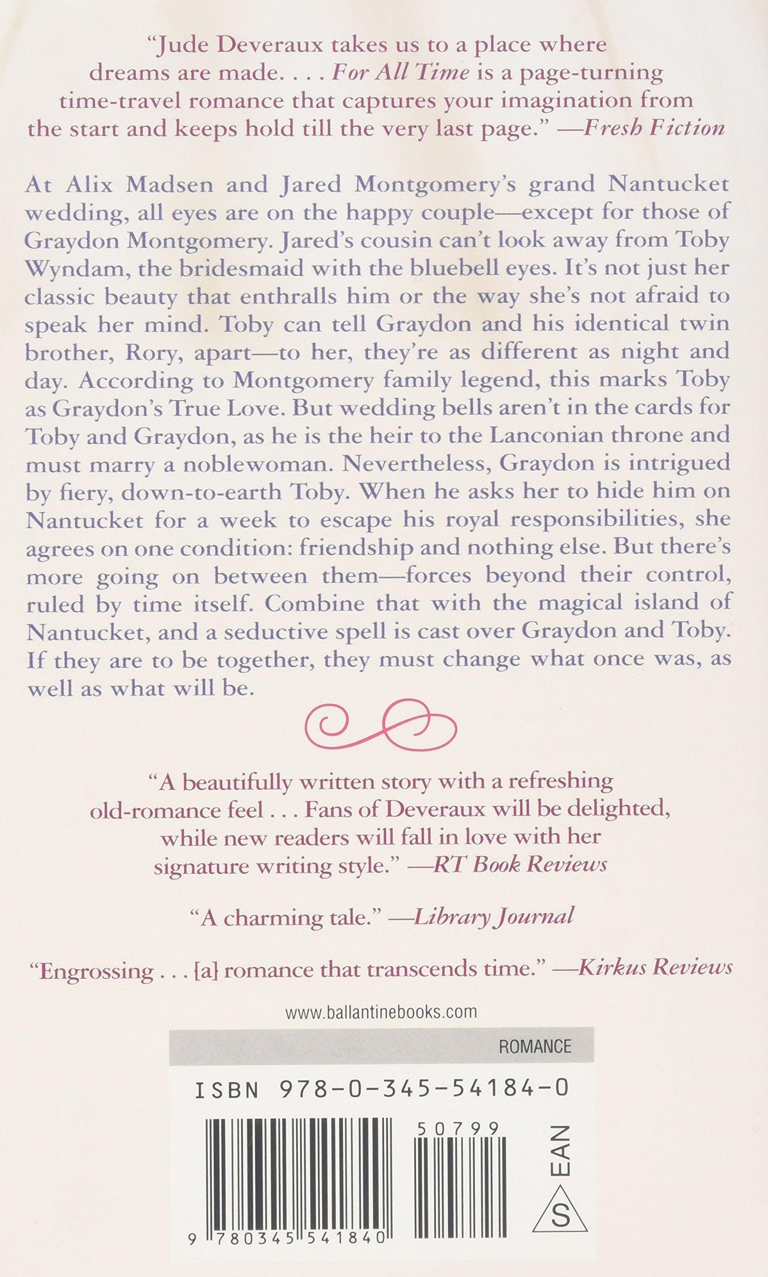 For All Time: A Nantucket Brides Novel (nantucket Brides Trilogy): Jude  Deveraux: 9780345541840: Amazon: Books