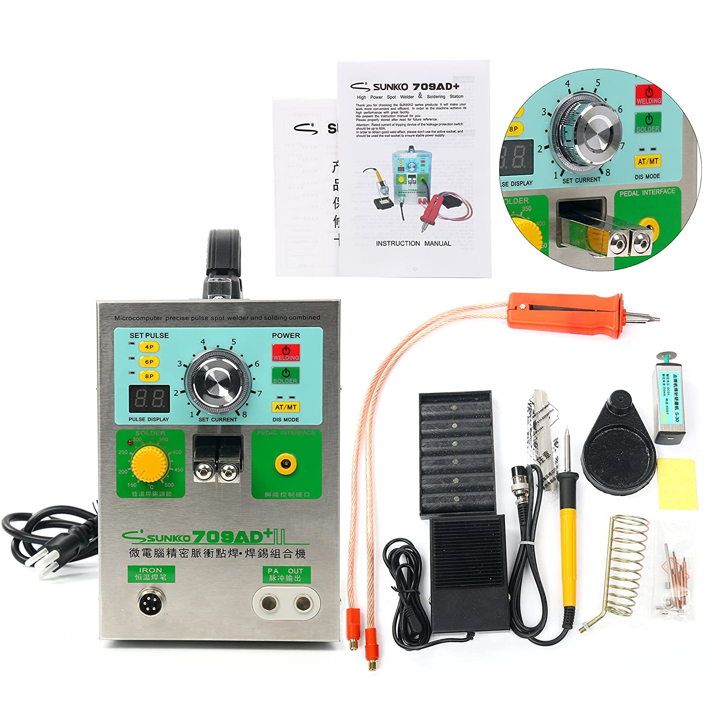 SUNKKO S788H-USB Preciston pulse spot selder+CC-CV Charge+Power bank test