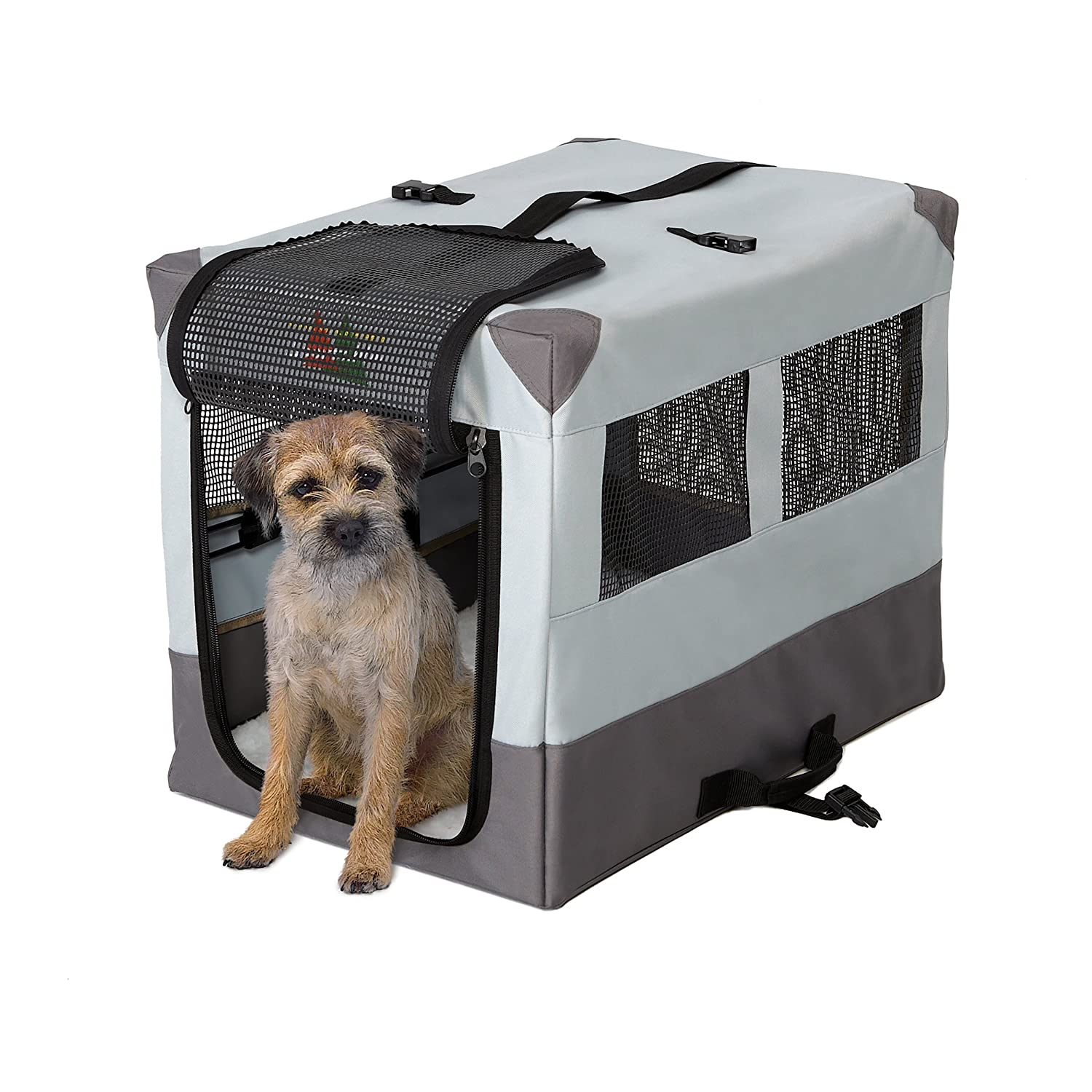24 by 17.5 by 20.25-Inch Midwest Home for Pets Portable Tent Crate, 24 by 17.5 by 20.25-Inch