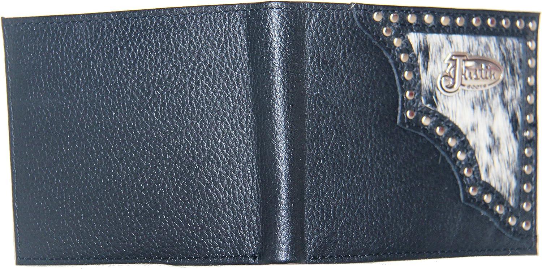 Custom United States Coast Guard Bi-fold Wallet Hair on Hide Black