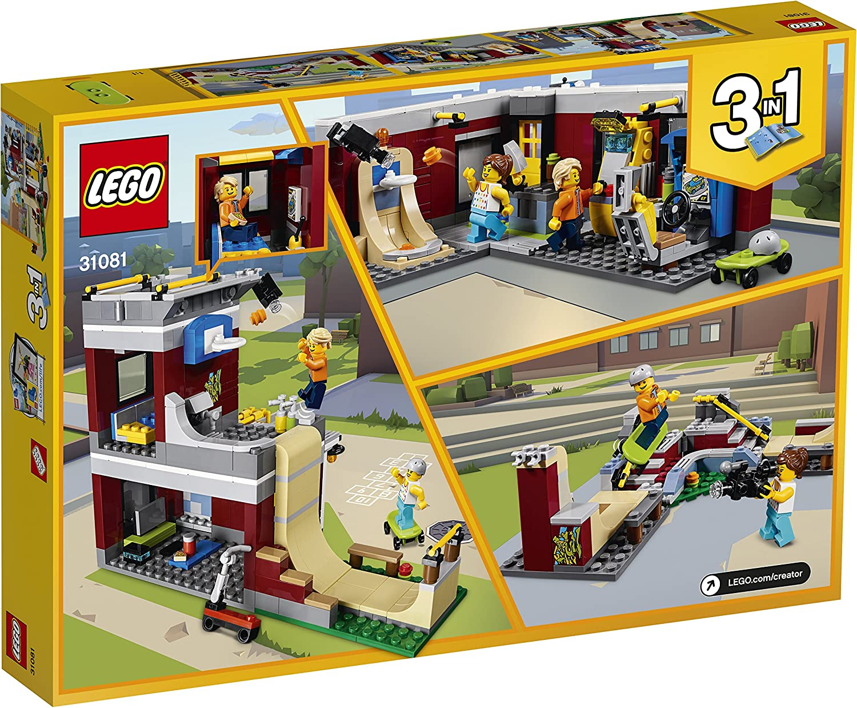 LEGO Creator - Parque de Patinaje Modular, Juguete 3 en 1 Creativo ...