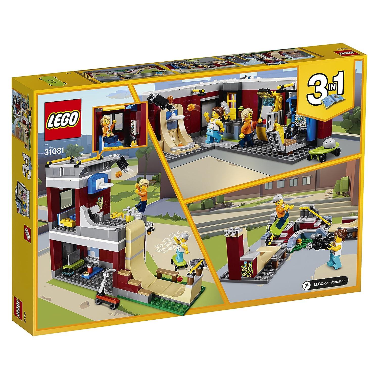 LEGO Creator - Parque de Patinaje Modular, Juguete 3 en 1 Creativo de Construcción con 2 Minifiguras para Recrear Aventuras y Construir Diferentes ...