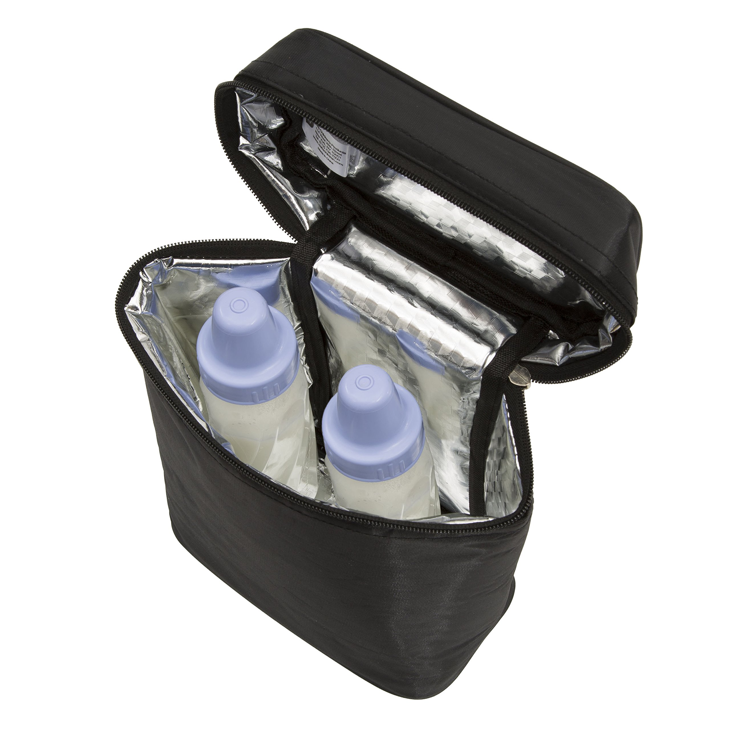 Delta Children Insulated Baby Bottle Bag | Keeps Breast Milk Cool, Stores Baby Bottles both Warm or Cold, Black by Delta Children (Image #6)