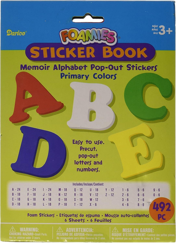 : Darice Foam Pop Out Sticker Book 492Pkg Memoir