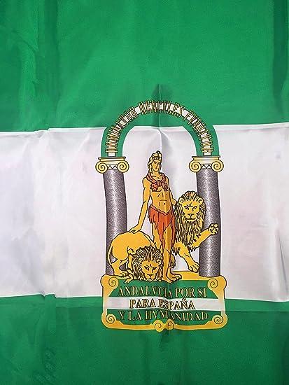 Durabol Bandera de Andalucia Comunidades autónomas de España 60 * 90 cm Satin 2 Anillas metálicas fijadas en el Dobladillo: Amazon.es: Jardín