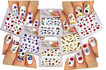 Amazon flowers birds feather nail art water slide tattoo flowers birds feather nail art water slide tattoo decals pack prinsesfo Image collections