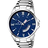 Buccachi Analogue Blue Round Day & Date Dial Watch for Men's (B-G5040-BL-CH)