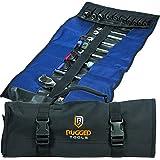Organizador de rolo de ferramentas com 32 bolsos – Organizador de chaves e bolsa de ferramentas – Rolo de chave inclui bolsas