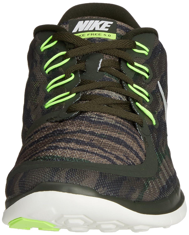 Nike Free 5.0 Print Zapatillas para Hombre, Verde (Sequoia/Summit White/Turbo Green/Crystal Green), Talla 47.5
