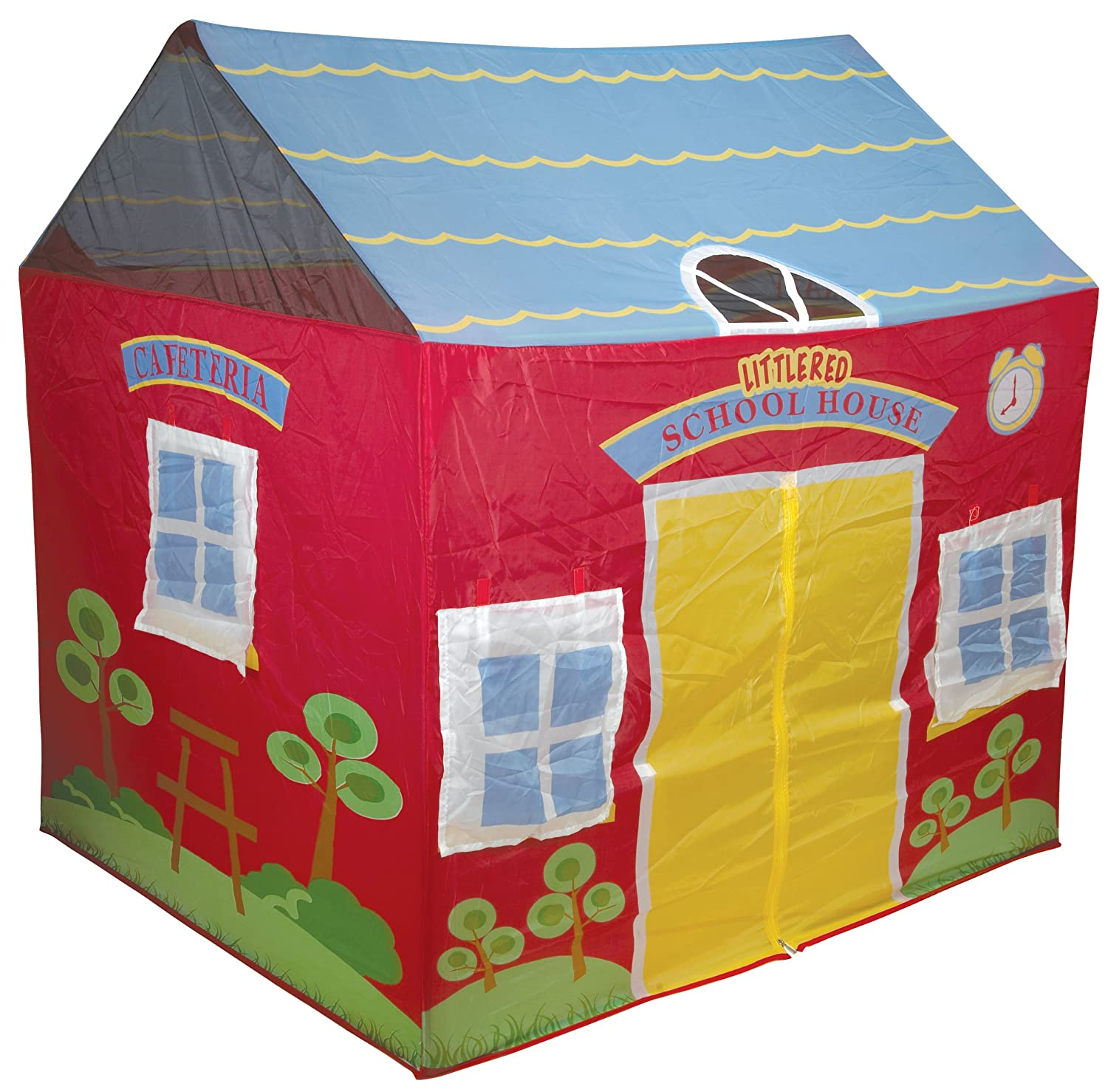 Amazon.com: Pacific Play Tents Kids Little Red School House Tent ...